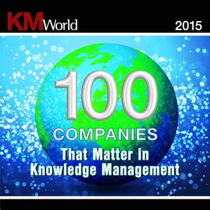 KMWorld100 2015 Badge