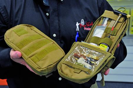 The complete cleaning kit comes with a zipped cordura pouch