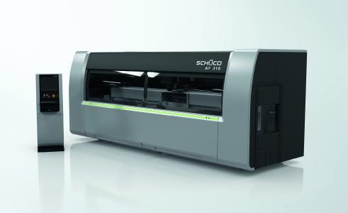 CNC-Bearbeitungsmaschine Schüco AF 310 / Bildnachweis: Schüco International KG