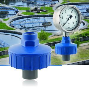 Der neue AFRISO Membrandruckmittler MD 11 kann in Verbindung mit Rohrfeder-Manometern oder Druckschaltern in Anlagen mit Abwässern, Düngemitteln, aggressiven Medien sowie einer Vielzahl von Chemikalien als zuverlässiges Druckmittler-Messsystem eingesetzt werden / Foto: AFRISO