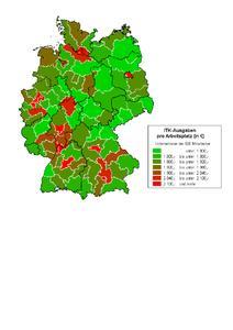 Dritter Sage Investitions-Atlas ITK - Verteilung der ITK-Investitionen in Deutschland