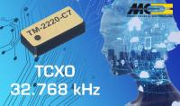 MICRO CRYSTAL's New TM-2220-C7 Highly Stable Temperature Compensated Oscillator 32.768 kHz (TCXO) with integrated X-Tal and CMOS clock signal output