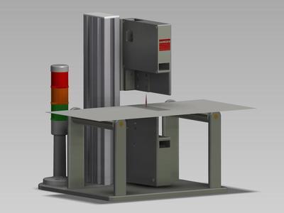 Lasersensoren für das Messen der Blech-/Bogendicke und für Doppelblechkontrolle