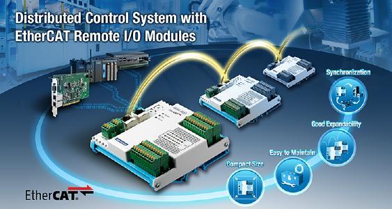 Verteiltes EtherCAT IO System mittels AMAX 4800 Module