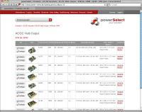 powerSelect Online-Produktübersicht