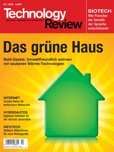 Das Titelbild der aktuellen Technology-Review-Ausgabe 2/2008