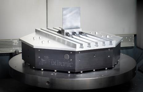 Aktives Spannsystem mit Werkstück © Fraunhofer IPT