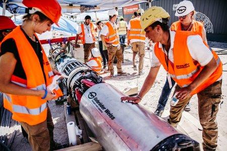 Groundhog Alpha, die mit dem Innovations-Award ausgezeichnete Tunnelbohrmaschine von Swissloop Tunneling (Quelle: Gebrüder Weiss)