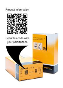 Product information directly to the cell phone: QR codes on the new product packaging of the ContiTech Power Transmission Group make this possible / Photo: ContiTech