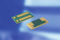 The PMH-D and PLU gold-plated bondable resistors for mounting with conductive adhesive