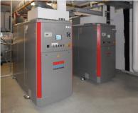 Blockheizkrafwerk im Hotelkeller mit den BHKW-Kompaktmodulen GG 50 (50 kWel, 82 kWth) und GG 70 (71 kWel, 114 kWth)