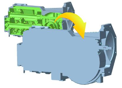 Neuer CADdoctor EX 7.2: Mit der Außenhülle-Funktion von CADdoctor wird das Innenlebens des CAD-Modells entfernt