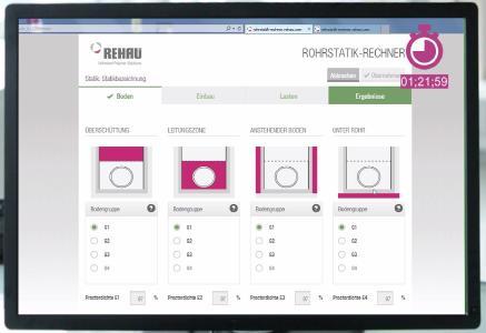 Screenshot Rohrstatik Rechner