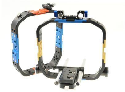 Prototyp mit Leichtstütze, Zubehörbrücke und Steckschuh fürs Kopflicht