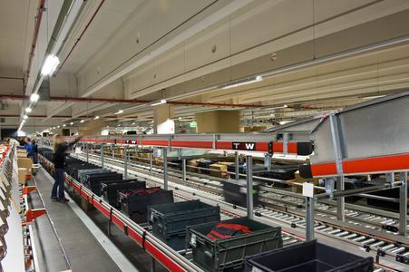 Insbesondere in der Textilbranche eröffnet die Kooperation von TGW und Schönenberger neue Lösungsmöglichkeiten. Quelle: TGW Logistics Group GmbH