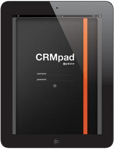 update CRMpad login screen