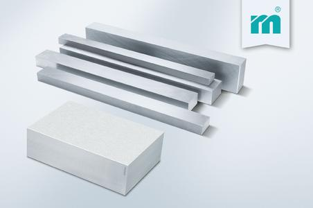 Now available at Meusburger: NP – Precision bars and NE – Blocks for eroding in new thicknesses, Photo: Meusburger