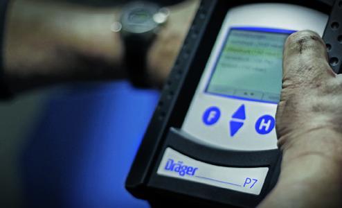 Dräger MSI P7-TS für Druck- und Dichtheitsmessungen.