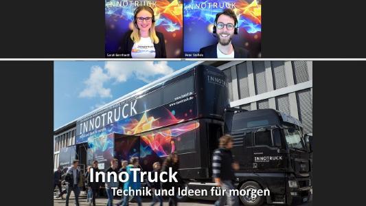 In einem interaktiven Online-Seminar berichten die InnoTruck-Wissenschaftler live über die Bedeutung von Innovationen und wichtige Technologiefelder der Zukunft. © InnoTruck / FLAD & FLAD