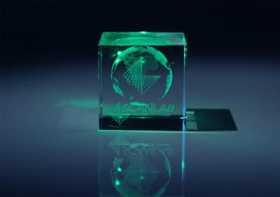 Green Laser Light Leaves Its Mark in Glass