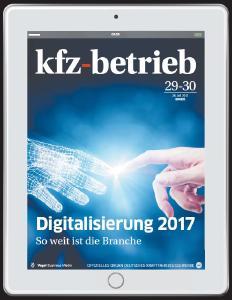 """n der aktuellen Ausgabe beleuchtet """"kfz-betrieb"""" digitale Entwicklungen im Handel, Service und bei den Herstellern und zeigt die Gefahren des digitalen Wandels für die Autobranche sowie ihre Kunden auf / Foto: kfz-betrieb"""