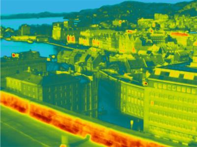 Überwachung eines Stadtviertels in Bergen