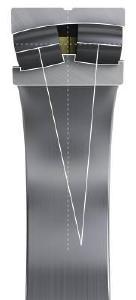 Das asymmetrische Pendelrollenlager erhöht die axiale Tragfähigkeit und damit die Gebrauchsdauer der Hauptlager in Windkraftanlagen signifikant. Es verfügt über einen höheren Druckwinkel auf der axial belasteten Lagerreihe und einen flacheren Druckwinkel auf der hauptsächlich radial belasteten Lagerreihe / Fotos: Schaeffler