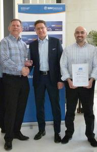f.r.t.l. Rudy Van Parijs (EBV), Peter Jeutter (Atmel), Karim Khebere (EBV)