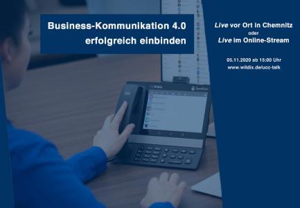 Wir begrüßen sie herzlich zum UCC-Talk am 5. November - live in Chemnitz oder im Stream.