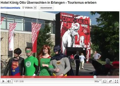 YouTube-Videos: Hotels und Tourismus in Erlangen