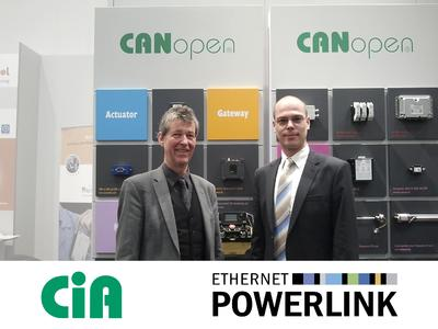 The partnership between CAN in Automation (CiA) and the Ethernet Powerlink Standard-ization Group (EPSG) started ten years ago in 2003. Since then, the two non-profit user organizations have jointly been making CANopen a very popular choice and a factor to reckon with in many market segments on classic CAN as well as Ethernet-based hardware lines.