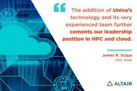 Altair übernimmt Univa und festigt damit Altairs Marktführerschaft in Workload Management und High Performance Computing (HPC)-Anwendungen in der Cloud
