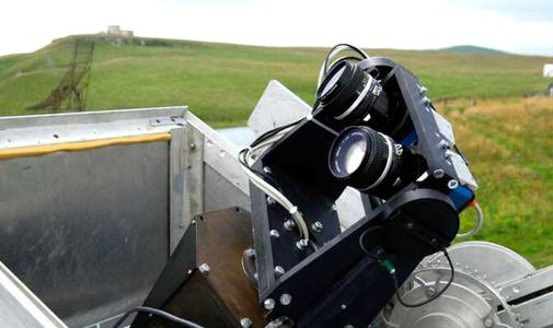 The two Prosilica GE4000 cameras inside the compact equatorial mount