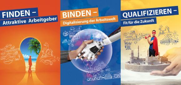 FINDEN | BINDEN | QUALIFIZIEREN: Die Vorhabenschwerpunkte des Basisvorhabens Arbeitswelt 4.0