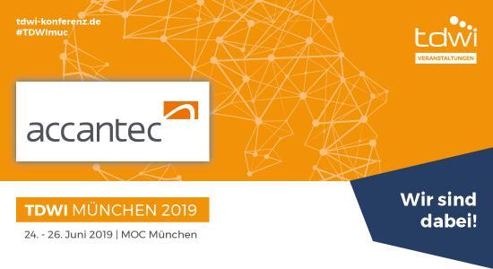 accantec ist dabei auf der TDWI Konferenz München 2019