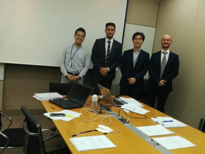 From left: Nam Kyu Go, EPI Procurement Section, POSCO; David Maurizio, Area Manager, Sales, SMS group; Hee-Jea Lee, Plant, Equipment & Materials Procurement Office, POSCO; Pierluigi Fenati, Legal & Compliance, SMS group