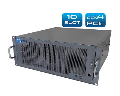 Professional GPU accelerator with ten expansion slots