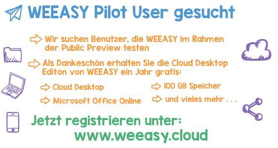 WEEASY Pilot-User gesucht