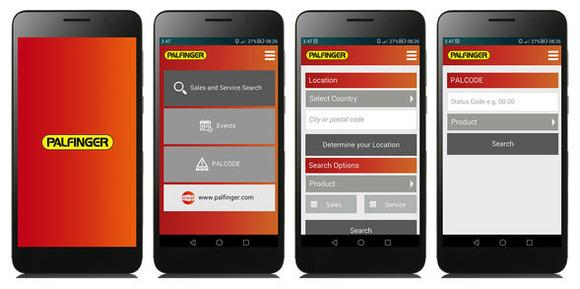 The mobile App from Palfinger