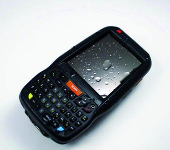 Mit einer Schutzklasse von IP-64 zeigt der PDA Elf auch nach Regen noch volle Funktionsfähigkeit