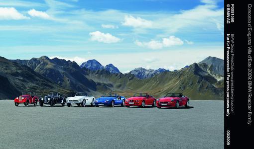 Concorso d'Eleganza Villa d'Este 2009: BMW Roadster Family