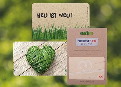 Ob Bio-PVC, Holz oder Gras - die umweltfreundlichen Alternativen zu herkömmlichen Plastikkarten sind vielfältig