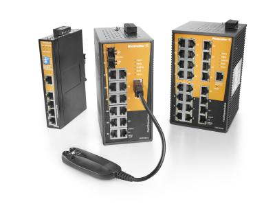 Weidmüller Advanced Line managed switches for network redundancy, control and diagnostics