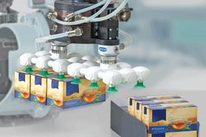 Frei konfigurierter Vakuum-Endeffektor: In Verbindung mit der großen Saugerauswahl ergeben sich nahezu unbegrenzte Einsatzmöglichkeiten