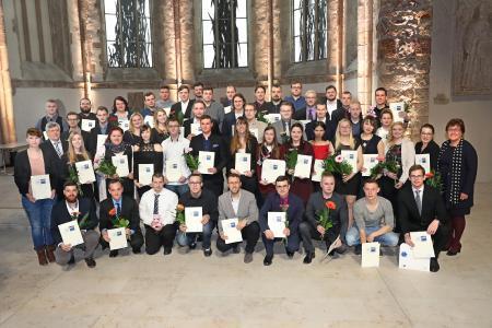 IHK-Präsident Klaus Olbricht (l.) und Arbeits- und Sozialministerin Petra Grimm-Benne (r.) Foto: Viktoria Kühne