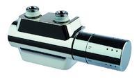 Für die Anbindung von Handtuch- und Designheizkörpern hat Simplex das Design-Ventil-Hahnblockset Universal konzipiert / Die Armatur kombiniert Eck- und Durchgangsform und ist somit für alle Anbindungsmöglichkeiten geeignet