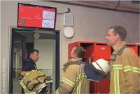 Das Wachen- und Alarmdisplay secur.CIS //WAD in der Feuerwache Esslingen