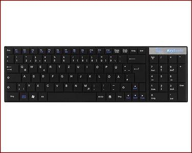Multimedia Compact Keyboard in flat Notebook Design