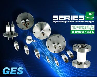 High Voltage Vacuum Feedthroughs, Hochspannungs-Vakuumdurchführungen, 8 kVDC / 80 A, GES Electronic & Service