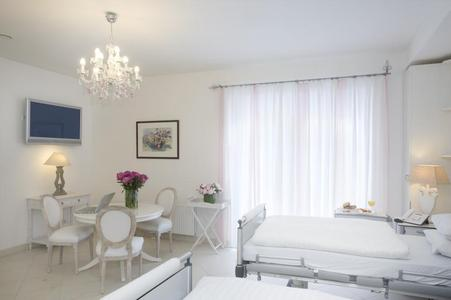 The clinic's luxury accommodation